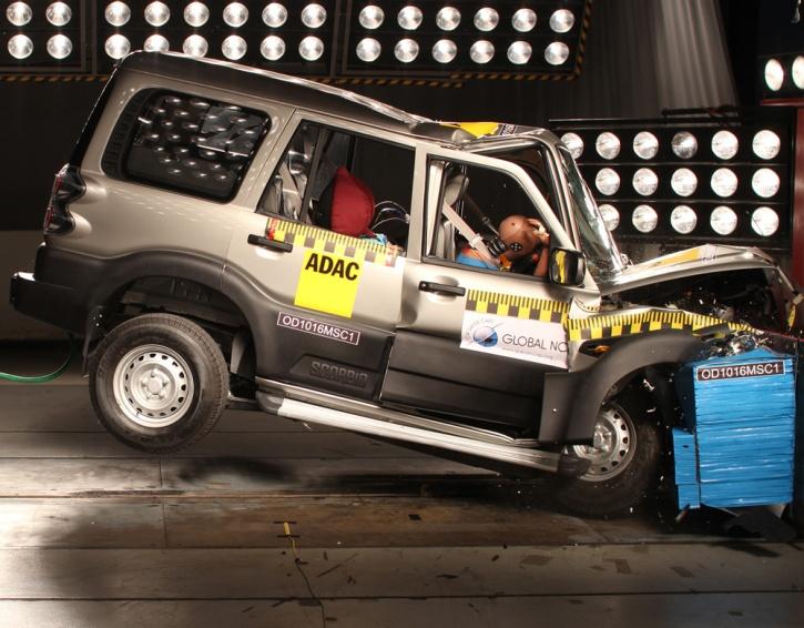 Mahindra Scorpio Crash test. Image: Global NCAP