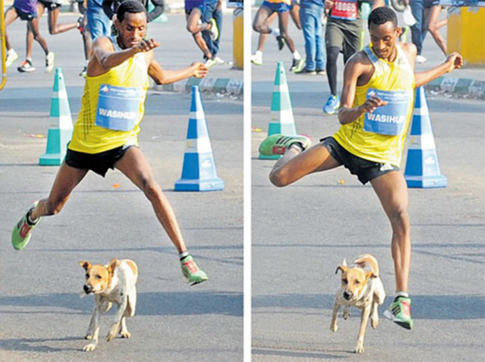 marathon runner Wasihun