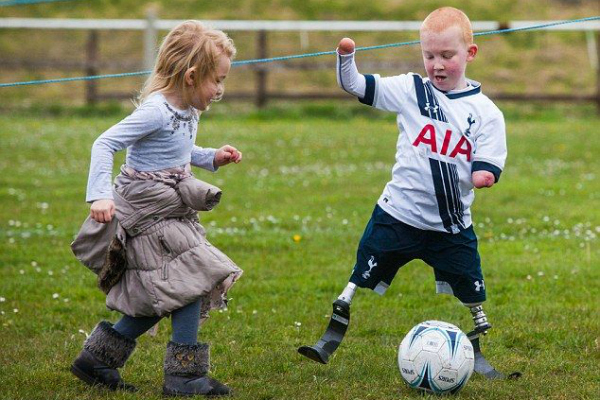 He May Not Have Hands And Legs, But Eight-Year-Old Tottenham Spurs Fan Marshall Johnson Is An Inspiration To Us All