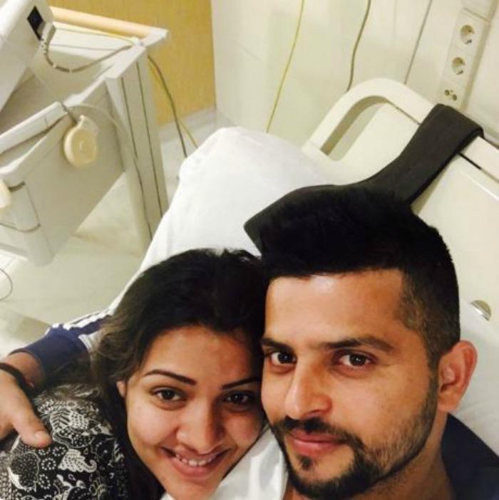 Raina with wife Priyanka