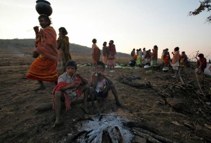 Villagers atop the Niyamgiri Hills