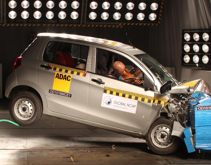 Maruti Celerio Crash test. Image: Global NCAP