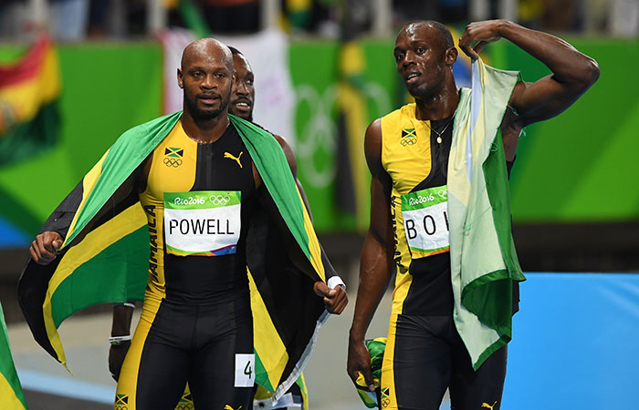 Asafa Powell and Usain Bolt