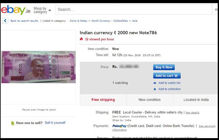 2K Note Sale on Ebay