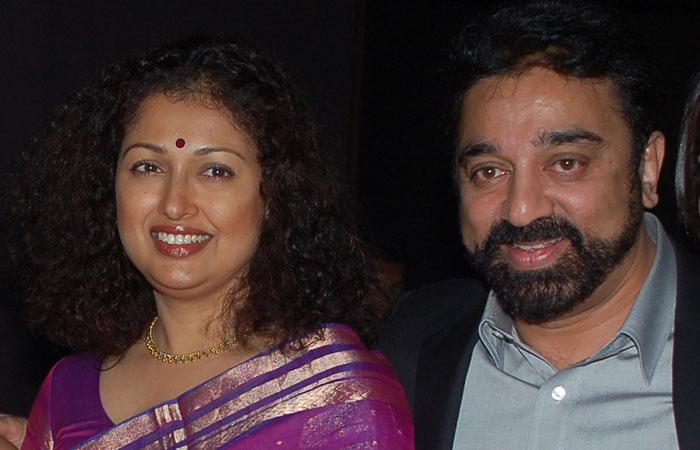 Gautami with Kamal Hassan