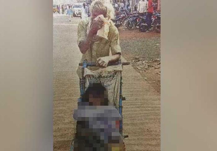 Telangana Man Carries Wife