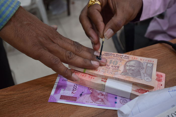 Bank withdrawal