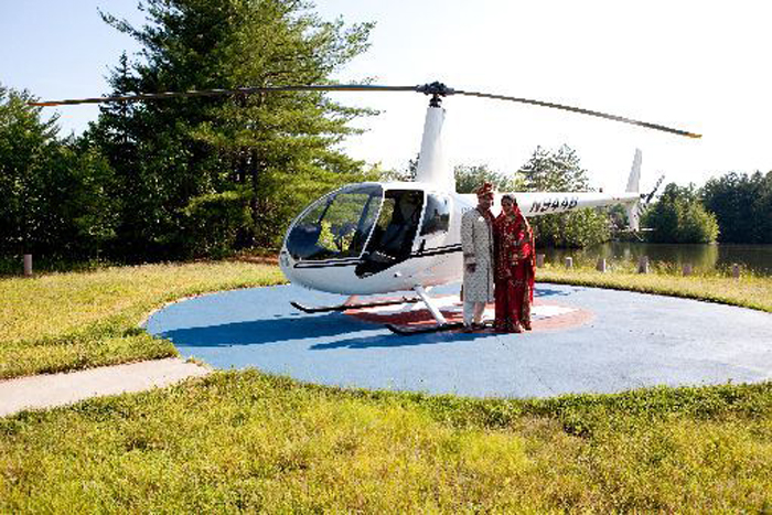 Groom to come in helicopter for wedding