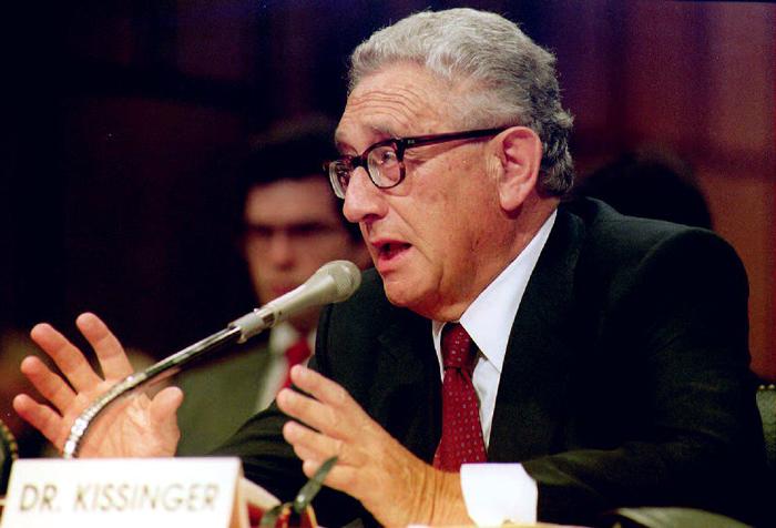 US diplomat Henry Kissinger