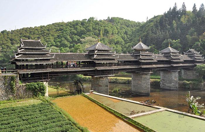 The Wind and Rain Bridge, Chengyang, China