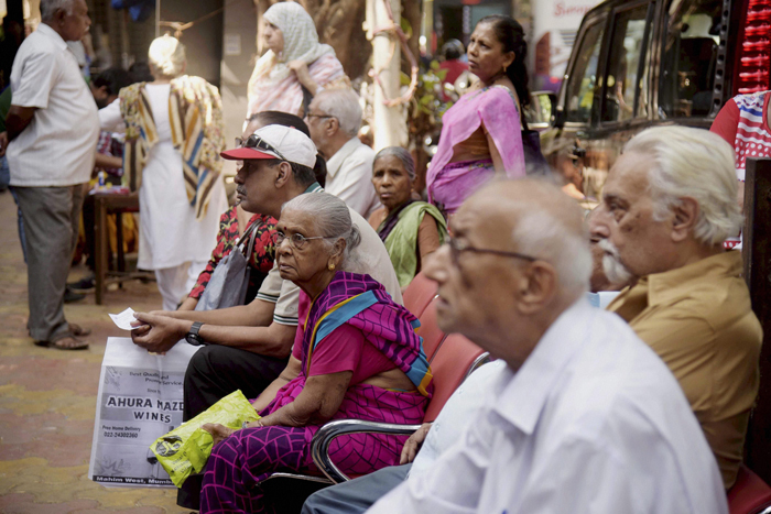 queues outsides banks and ATMs