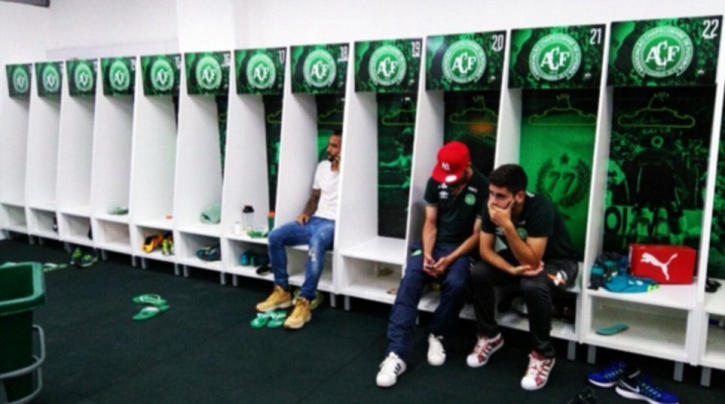 A shrine has been also been set up in the dressing room for players to pray and fans have left flowers outside the stadium.