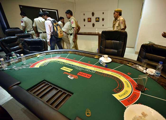 Delhi Police bust an illegal casino
