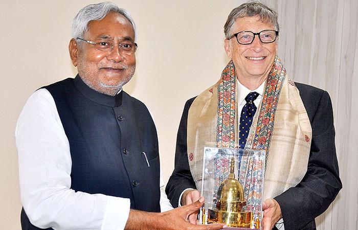 Nitish Kumar and Bill Gates