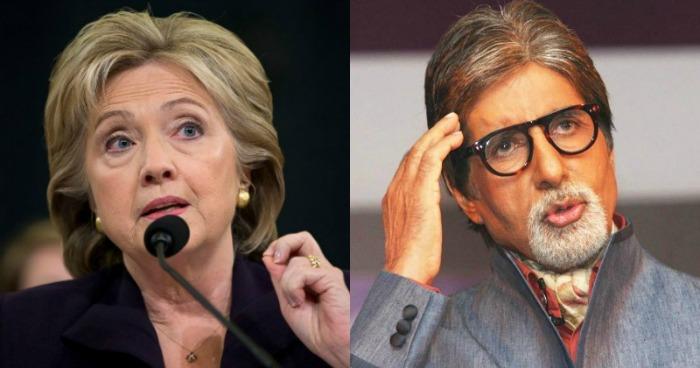 Hillary Clinton/Amitabh Bachchan