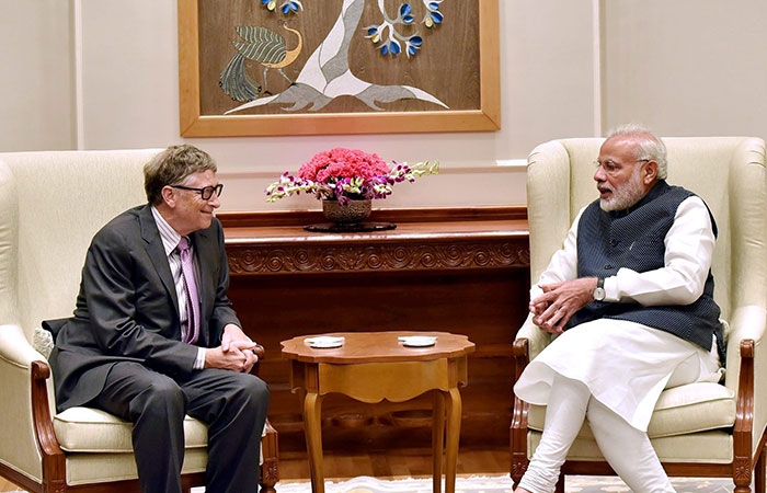Bill Gate with Narendra Modi