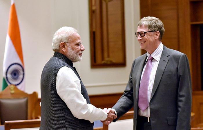 Bill Gates and Narendra Modi