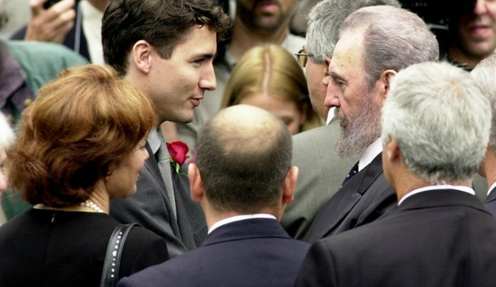 Trudeau with Castro