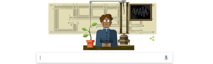 Google Doodle Sir JC Bose 158th birthday
