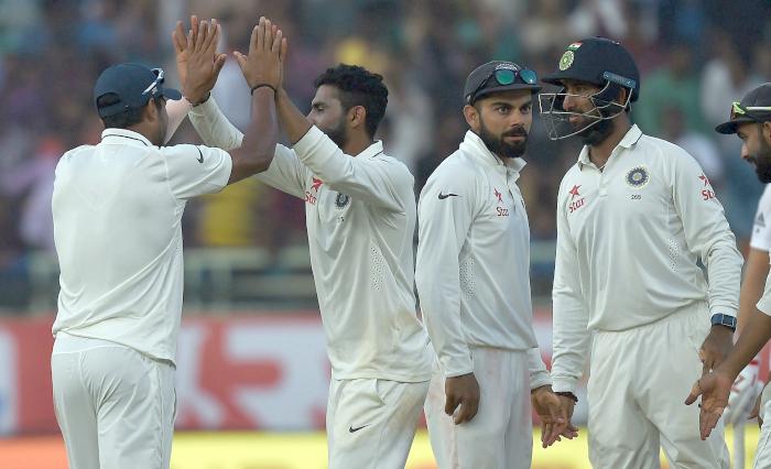 India fielders celebrate