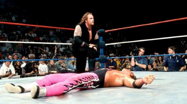 Undertaker v Stone Cold v Bret Hart Vader at  Final Four in 1997