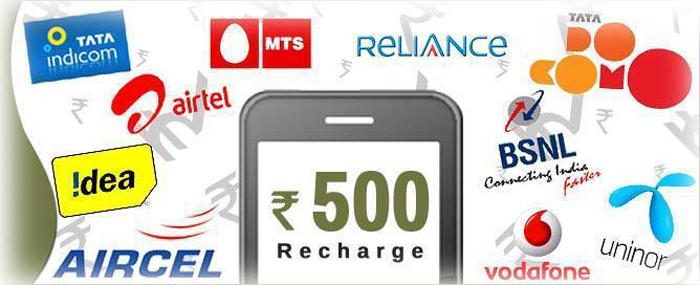 SIM recharge