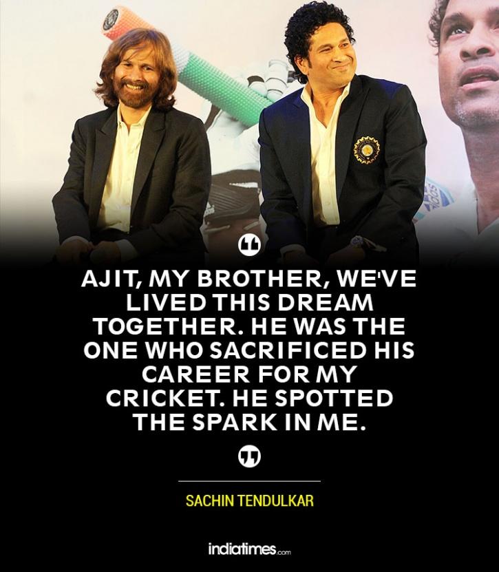 Sachin Tendulkar with brother Ajit