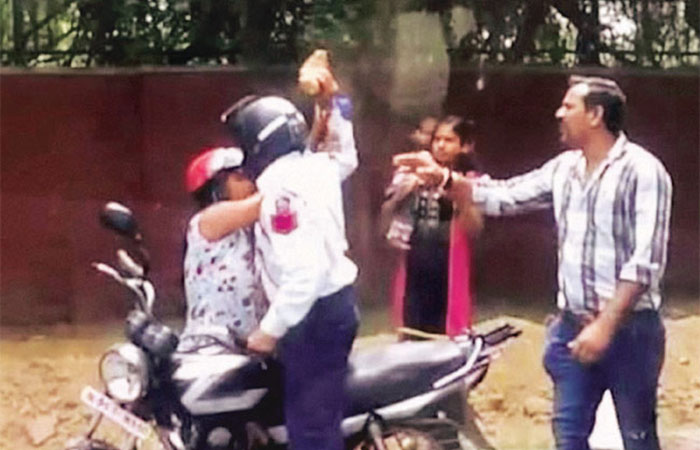 Women Fight with Cop