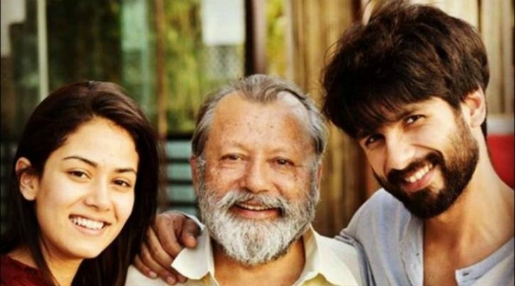 Shahid Kapoor, Mira and Pankaj Kapoor