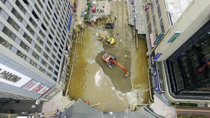 sinkhole in Japan