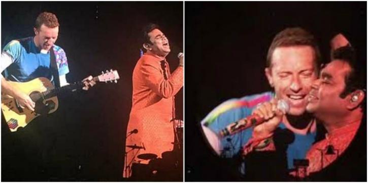 AR Rahman and Chris Martin