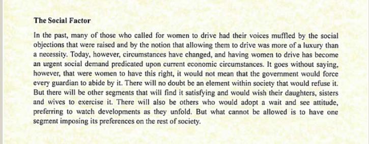 women drive letter
