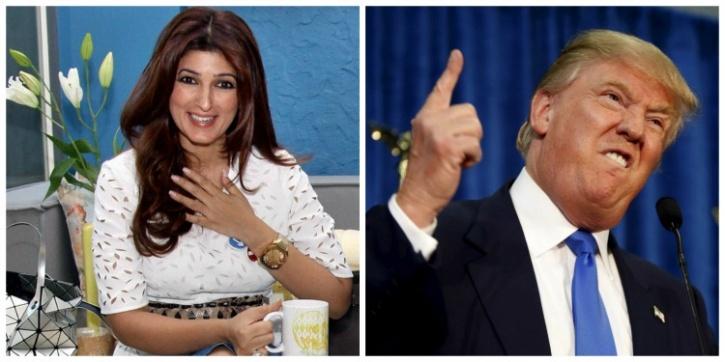 Twinkle Khanna and Donald Trump