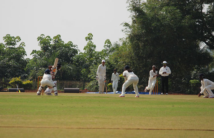 Girls Playing Cricket