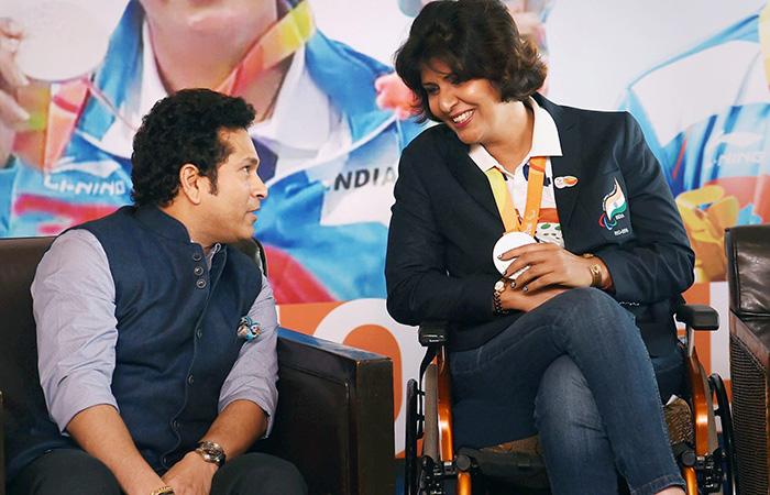 Sachin Tendulkar and Deep Malik