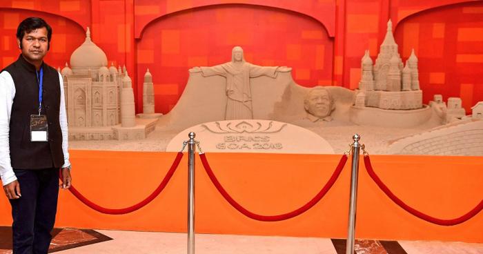 Leaders From Across The World Appreciate The Sand Art Of Sudarsan Pattnaik at BRICS