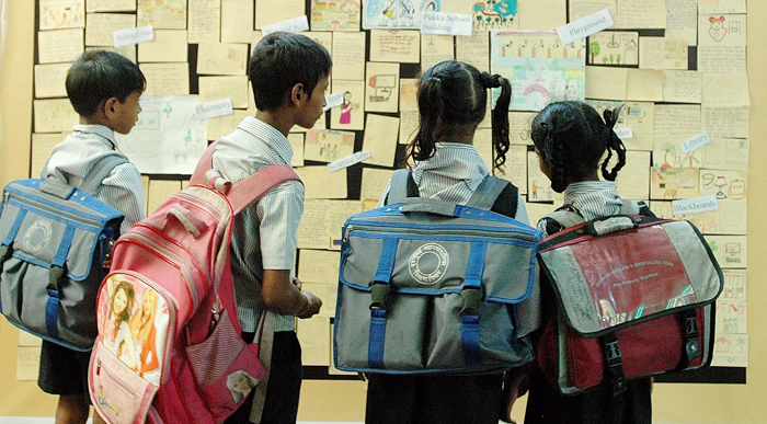 Standard 7 boy to fast for lighter schoolbags