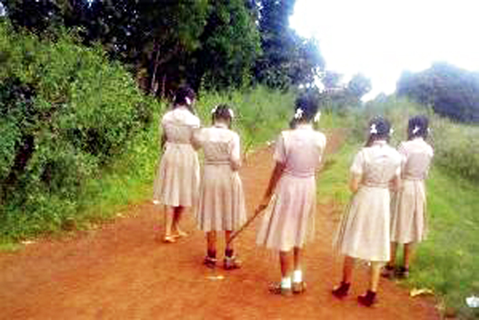 Here Girls Carry Sticks To Protect Themselves