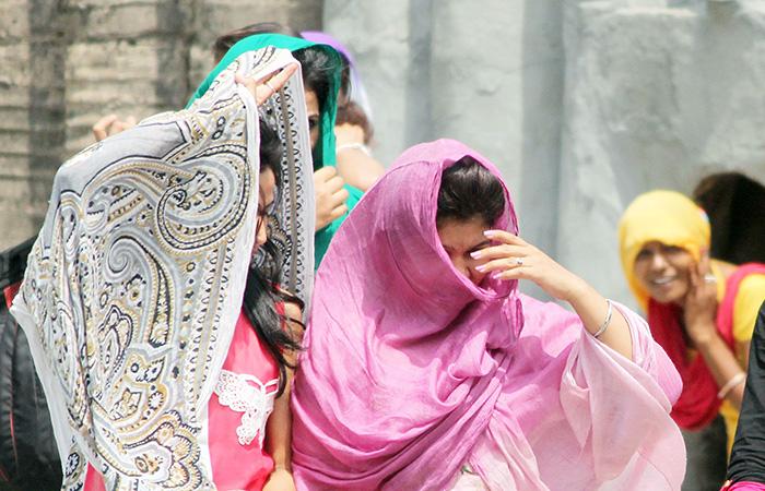 Womens Hiding a Face