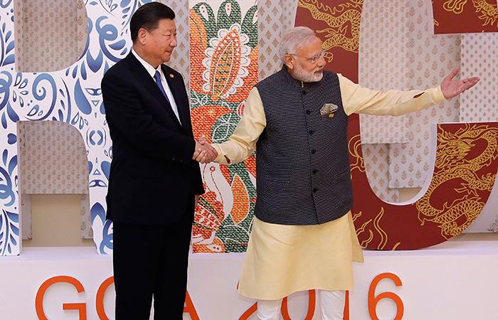 Narendra Modi with President of China