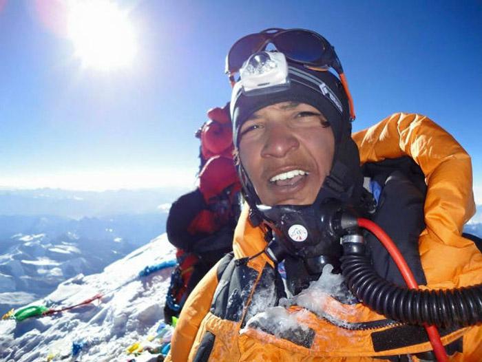 Indian mountaineer Arjun Vajpai