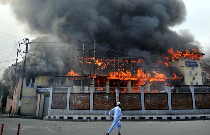 School Burn in Kashmir