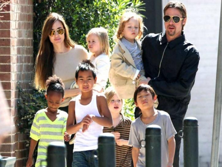 Jolie with Kids