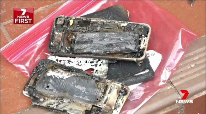 Apple iPhone7 burnt