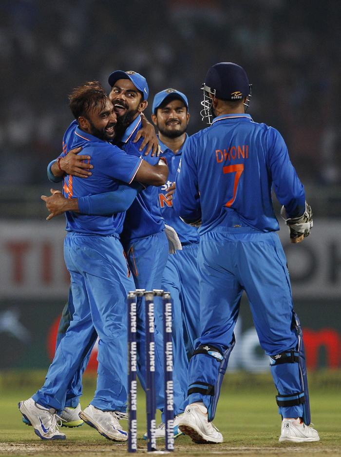 Mishra celebrates
