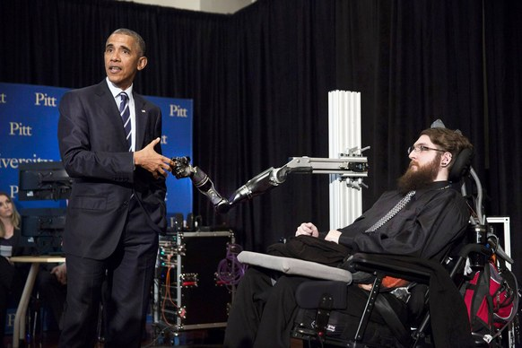 obama robotic handshake