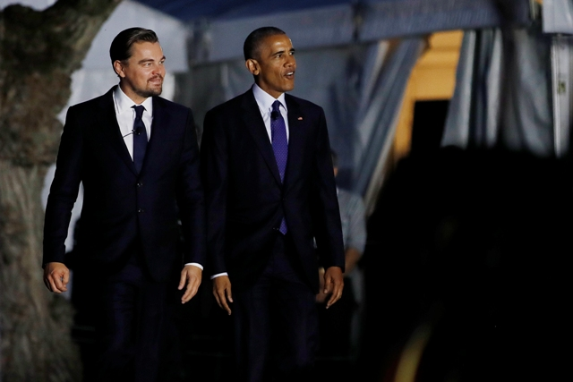Barack Obama Leonardo DiCaprio