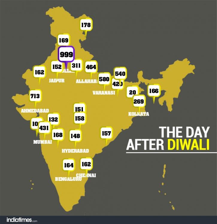 Delhi air map