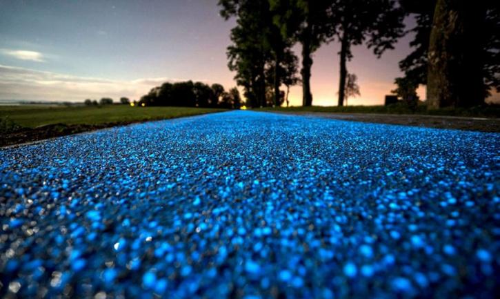 Poland glow-in-the-dark path