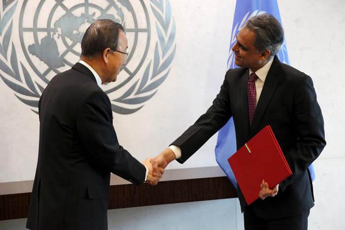 UN Ambassador Syed Akbaruddin & United Nations Secretary General Ban Ki-moon